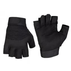 Mitts stuffed leather Black