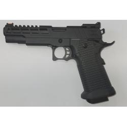 GOLDEN EAGLE - Réplique Pistolet Airsoft GE CAPA TWISTED GBB Gaz - 0,8 joule - NOIR