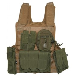 Ciras style Land plate carrier coyote with olive pouches
