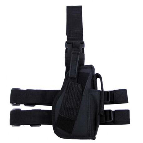 Drop leg holster right-hander black