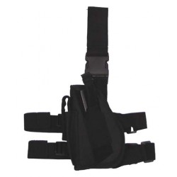 Drop leg holster for left-hander, black