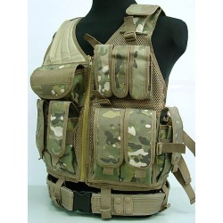Tactical Mesh Vest Multi Camo