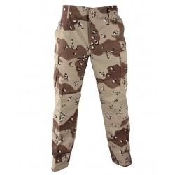 Pantalon de treillis coupe BDU ripstop Camo Désert 6 couleurs (Petits Cailloux)