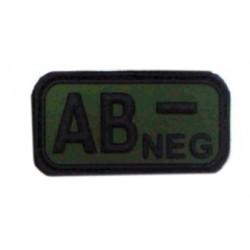 Ecusson - PVC - olive - groupe sanguin AB- - MFH