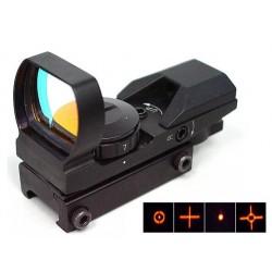 Viseur reflex Multi, 4 réticules avec support de fixation (Red Dot)