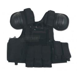 Veste pare-éclats - CIRAS MAR - noir - avec poches et protections d´épaule - MFH