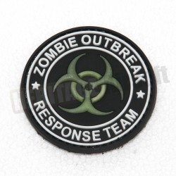 Ecusson PVC avec scratch Zombie Outbreak Biohazard