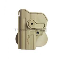 Holster rigide - avec support pour ceinturon - SIG SAUER SP2022 - Gaucher - Tan - IMI