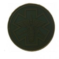 Écusson - Paramédic - Olive - PVC