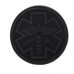 Écusson - Paramédic - Noir - Gris - PVC