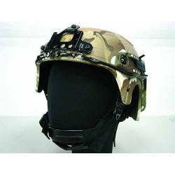 Réplique casque IBH avec support NVG et rail latéral, Multi camo