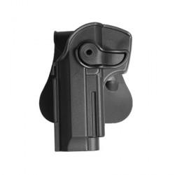 Holster rigide avec support pour ceinturon BERETTA 92 et M9 gaucher noir