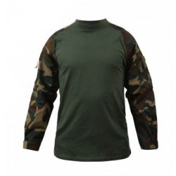 [Combat shirt] T shirt tactique renforcé - Woodland - Rothco