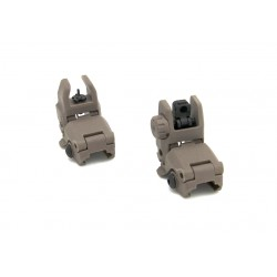 MBUS Front and Rear Sight Set polymere coyote