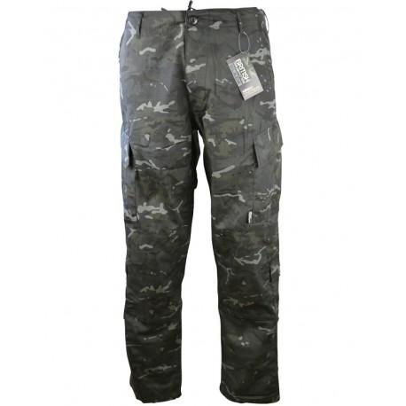 Pantalon d'airsoft - coupe ACU - MTP Black [BTP] - Kombat UK