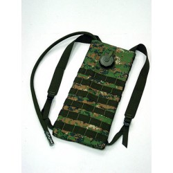 Dorsal Waterskin Camelback style Digital Woodland