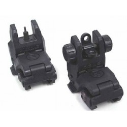 MBUS Front and Rear Sight Set polymere black