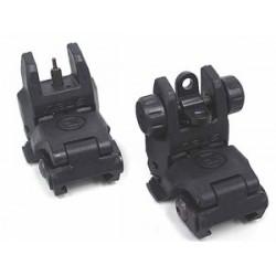 Ensemble visée polymère type MBUS (front et rear sight) noir