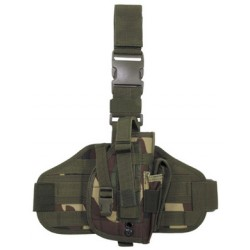 Leg Holster with MOLLE platform woodland