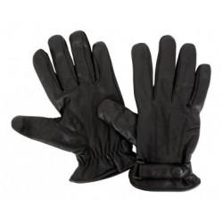 Gants cuir - noir