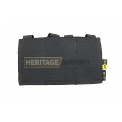 Porte chargeurs triple d'airsoft - M4 M16 - élastique - Noir