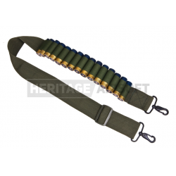 Sangle cartouchière pompe d'airsoft - Olive