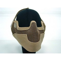 Masque grillagé airsoft de protection - Grand modèle - Coyote