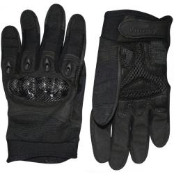 Gants d'airsoft Elite avec renforts coque - Noir - Viper