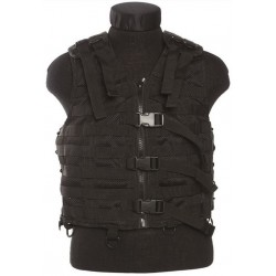 Gilet MOLLE airsoft - Maille filet - Noir