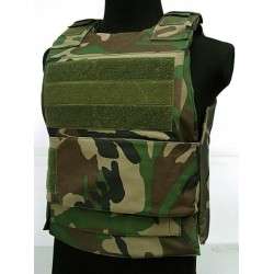 Airsoft bullet proof Vest woodland
