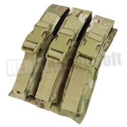 Poche porte chargeur triple MP5 MOLLE Multicam