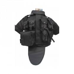 Veste type OTV complète avec poches noir