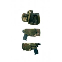 Holster d'airsoft adpatable MOLLE centre europe gaucher - OPEX - HOL16