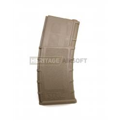[Mid-Cap] Chargeur M4 M16 type PMag - 70 Billes - Tan - Plastique - SRC