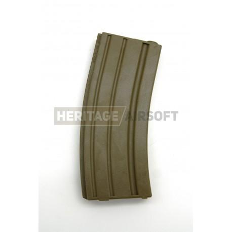 [Real Cap] Chargeur type M4 Stanag - 30 Billes - Tan - Plastique - SRC