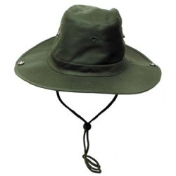 Chapeau de brousse avec pressions olive