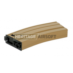 [High-Cap] Chargeur type M4/M16 Stanag - 300 Billes - Tan - Métal - SRC