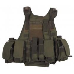 MFH - Gilet MOLLE Ranger type MBSS avec poches et outre dorsale OD