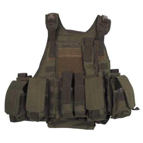 Vest MOLLE Rangers with pockets and camelback olive