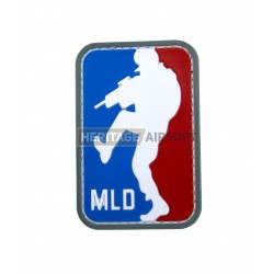 Ecusson MLD Major League Door Kicker PVC avec scratch, Bleu blanc Rouge