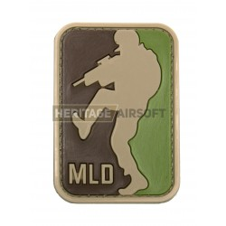 Ecusson MLD Major League Door Kicker PVC avec scratch, Multicam