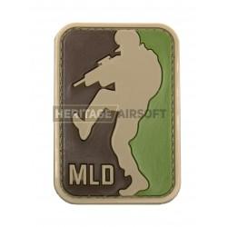 Ecusson MLD Major League Door Kicker PVC avec scratch, Multicam