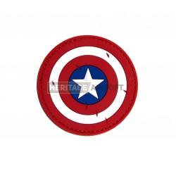 Ecusson PVC avec scratch bouclier Captain America