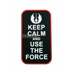 Ecusson Star Wars Keep Calm & The Force PVC avec scratch