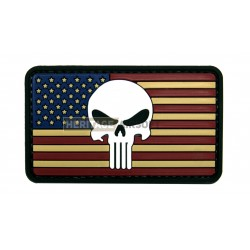 Ecusson USA Punisher  PVC avec scratch