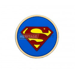 Ecusson Superman PVC avec scratch