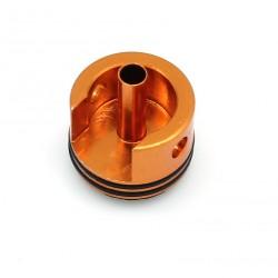 Tête de cylindre alu anodisée orange double joint P90