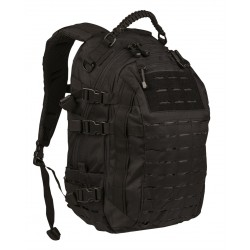 Sac à dos Mission Large - Lasercut et paracord - Noir