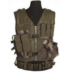 "Gilet tactique ""cross draw"" avec holster et ceinturon, centre europe"