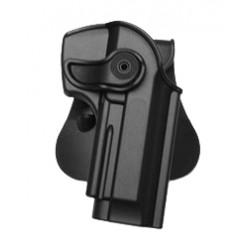 Holster rigide Roto pour Beretta 92 / 96 et M9 avec support pour ceinturon - noir - IMI